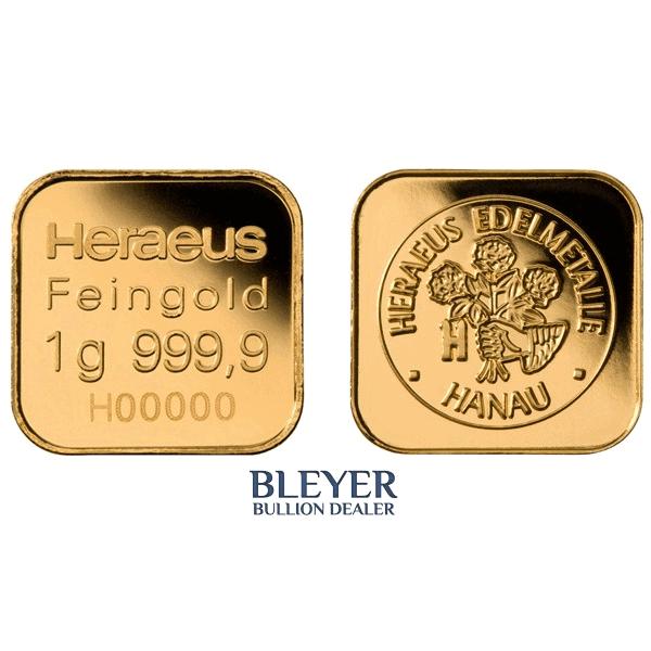 Heraeus MultiDisk - 10x 1g Gold Bars