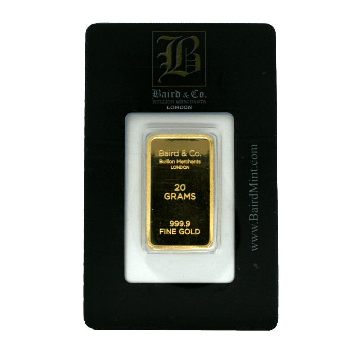 20g Baird & Co Minted Gold Bar