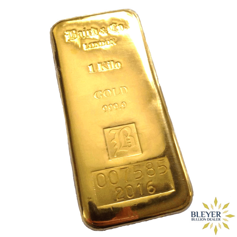 1kg Baird & Co Cast Gold Bar