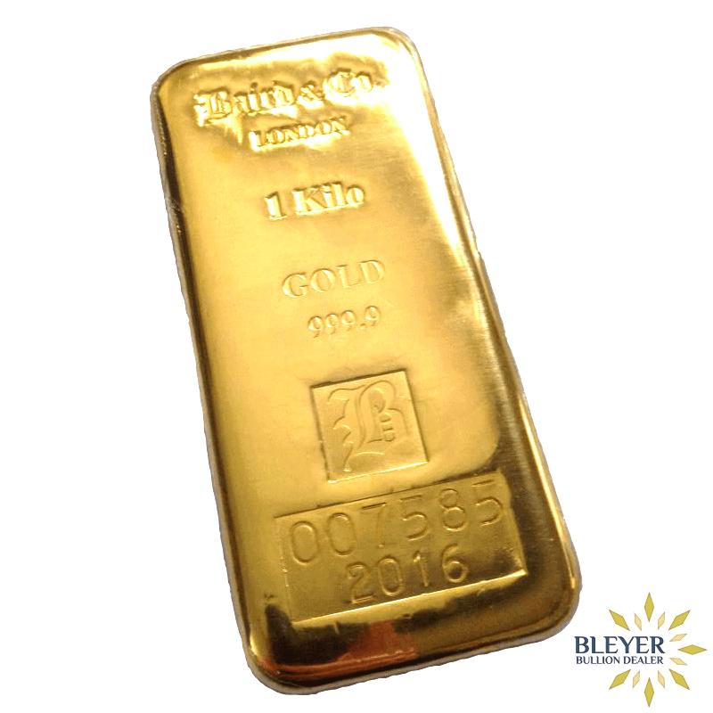 1kg Baird & Co Cast Gold Bar