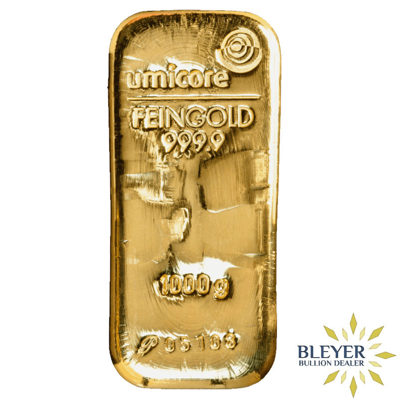 1kg Umicore Cast Gold Bar
