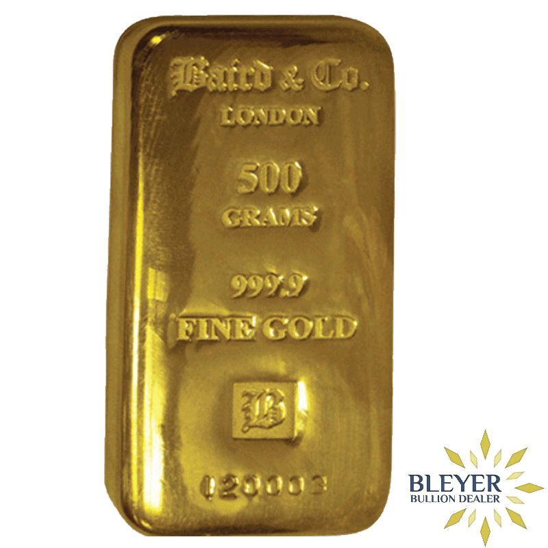 500g Baird & Co Cast Gold Bar
