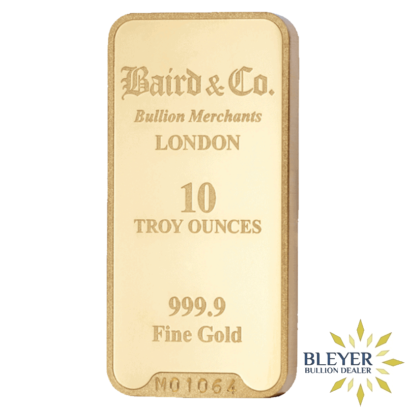 10oz Baird & Co Minted Gold Bar