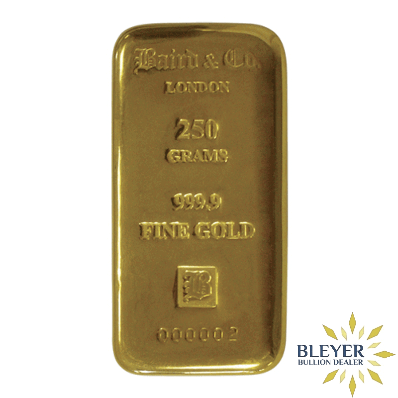 250g Baird & Co Cast Gold Bar