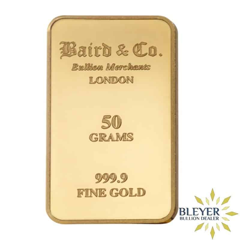 50g Baird & Co Minted Gold Bar