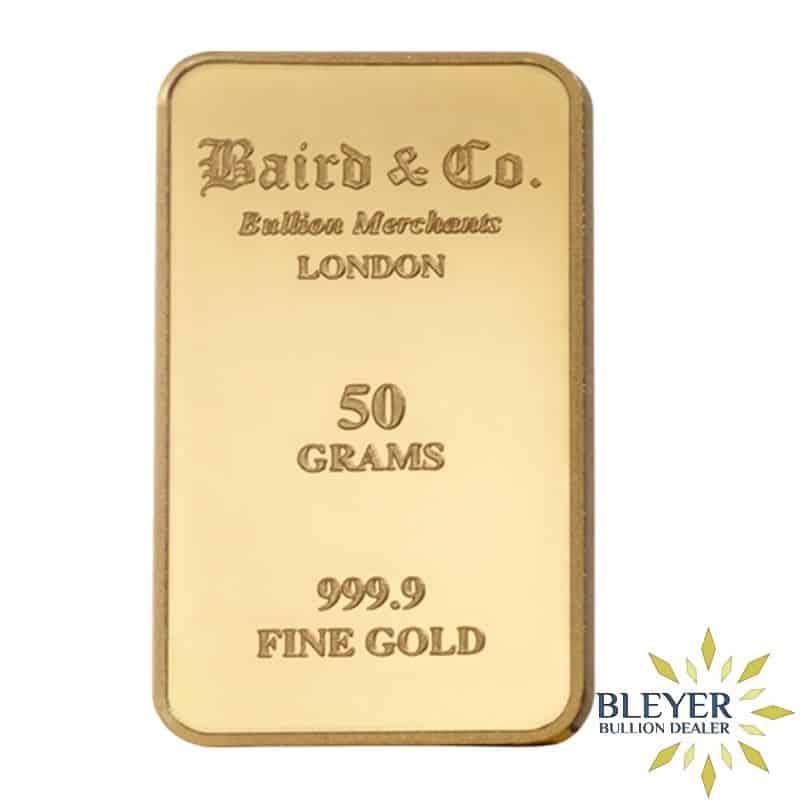 50g Baird & Co Minted Gold Bar