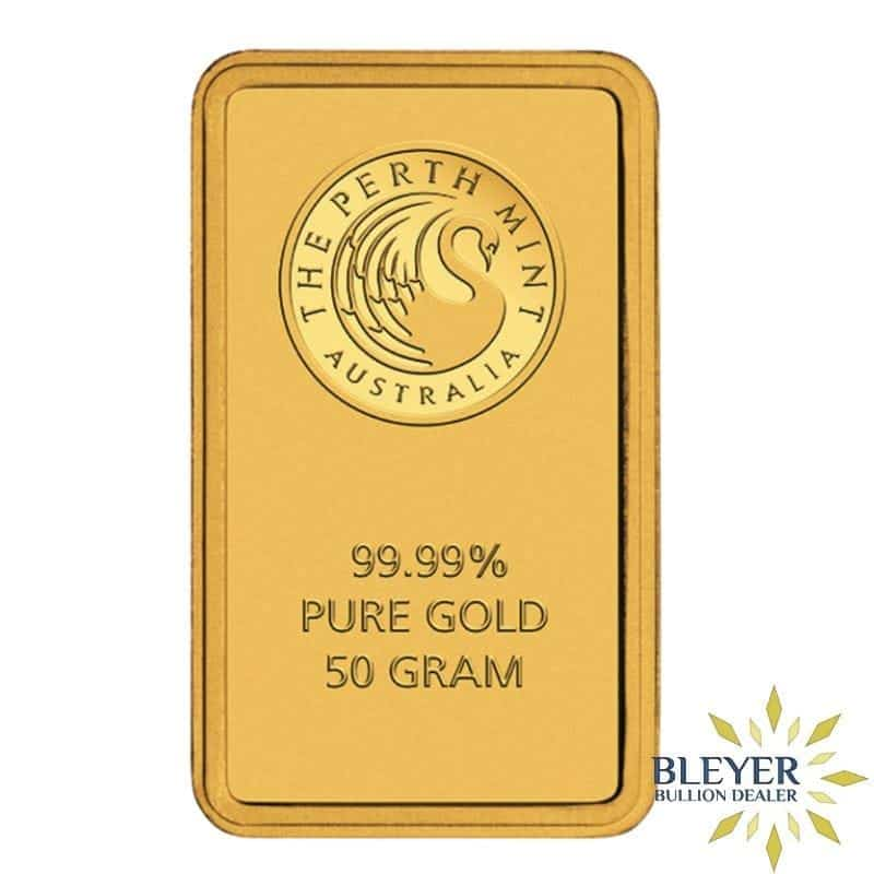 50g Perth Mint Gold Bar