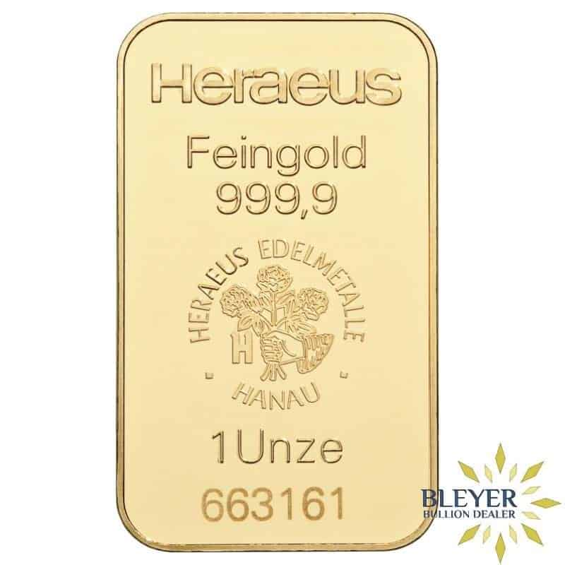1oz Heraeus Minted Gold Bar