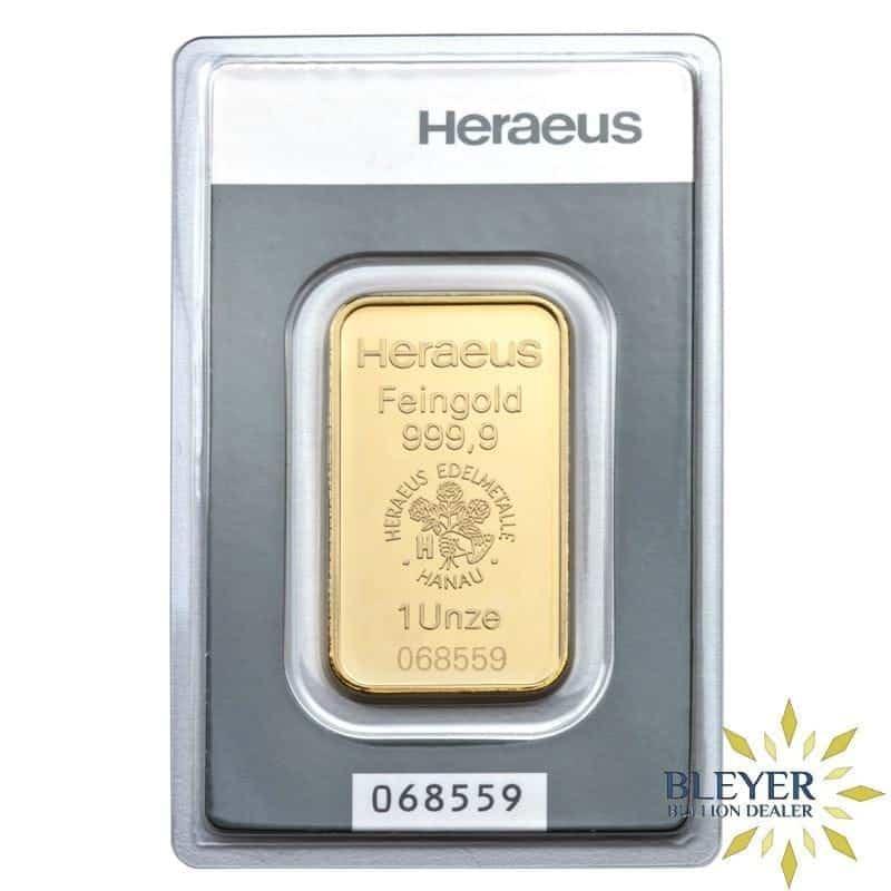 1oz Heraeus Minted Gold Bar