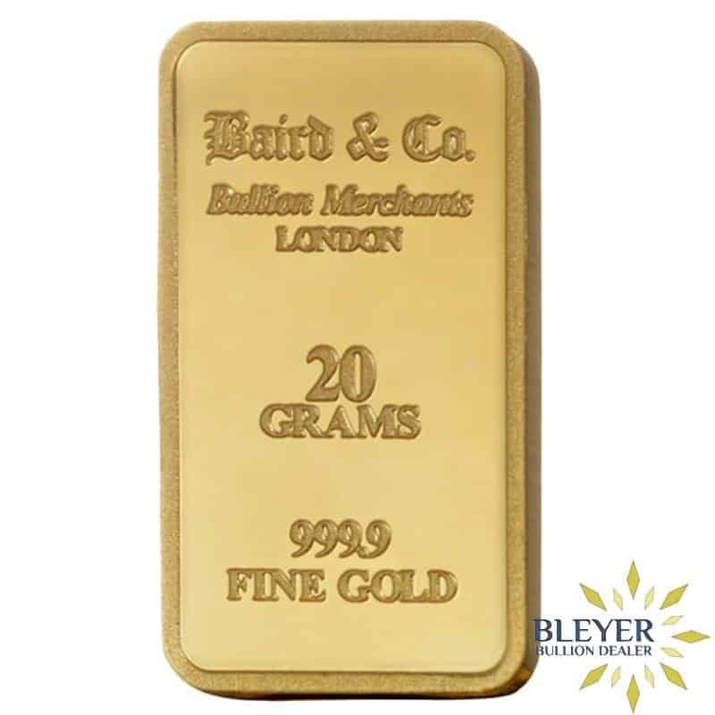 20g Baird & Co Minted Gold Bar