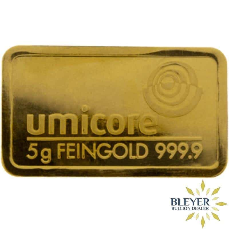 5g Umicore Minted Gold Bar