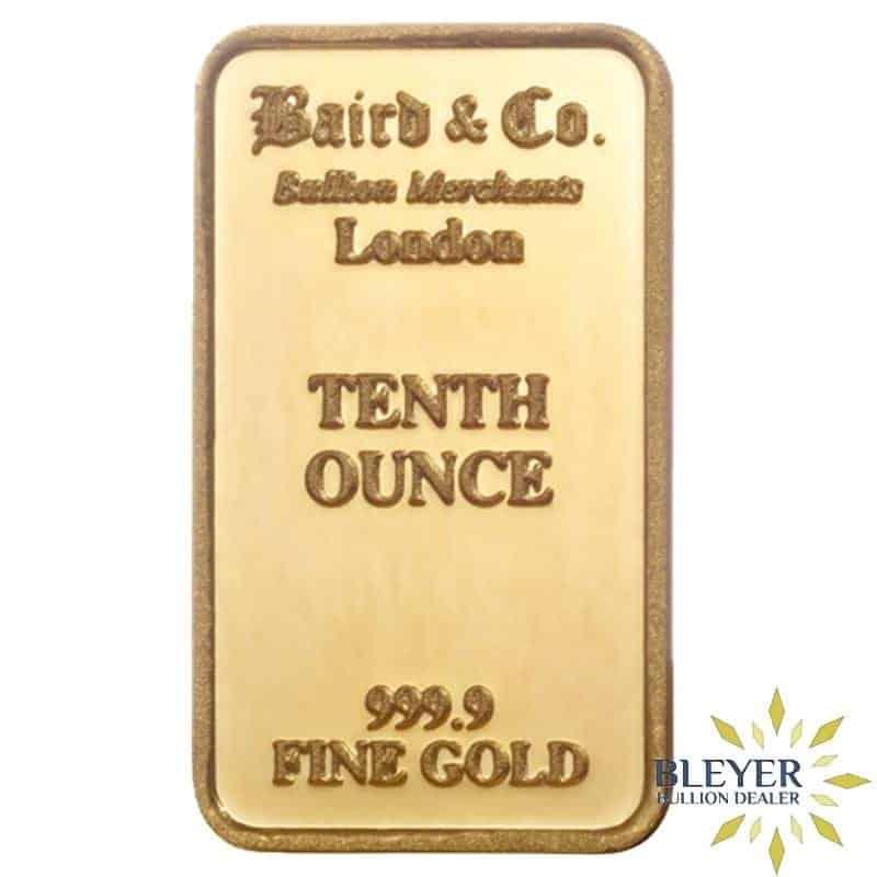 1/10oz Baird & Co Minted Gold Bar
