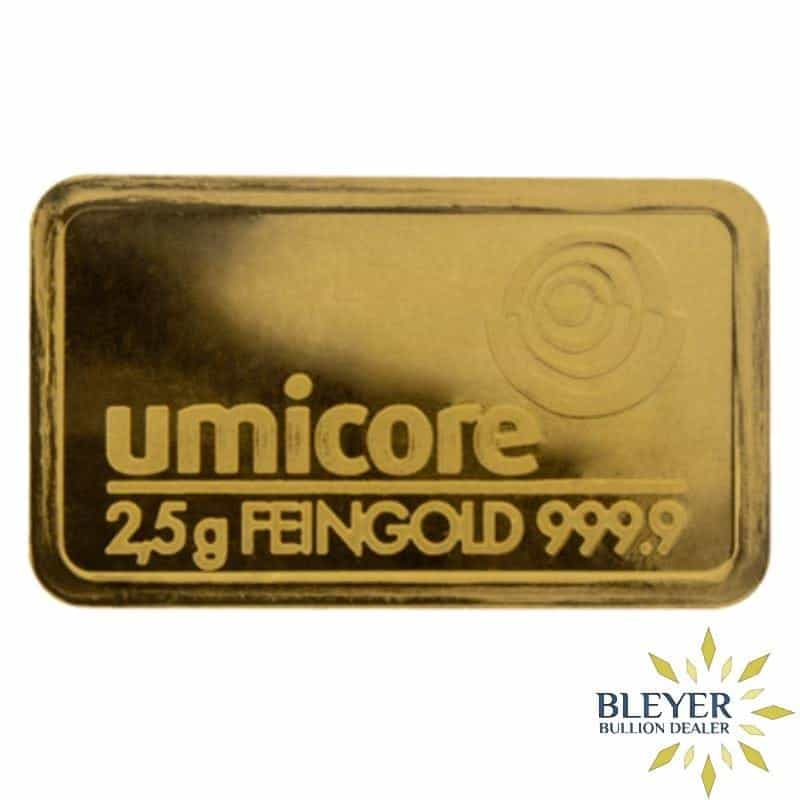 2.5g Umicore Minted Gold Bar