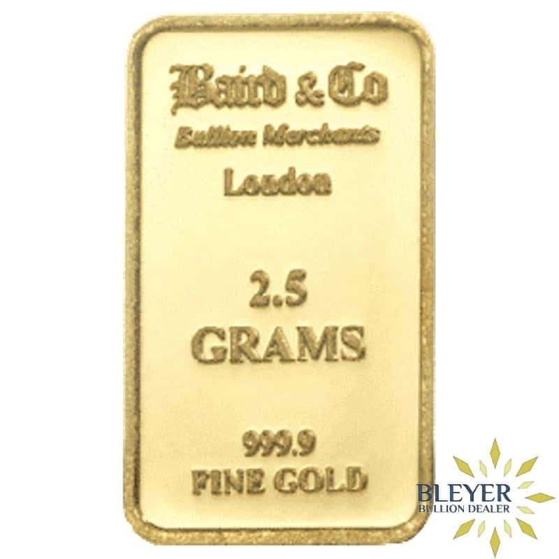 2.5g Baird & Co Minted Gold Bar