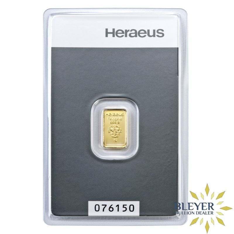 1g Heraeus Minted Gold Bar