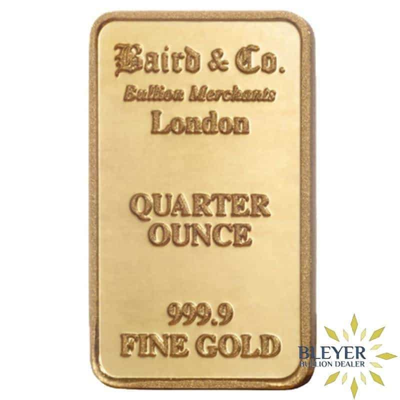 1/4oz Baird & Co Minted Gold Bar