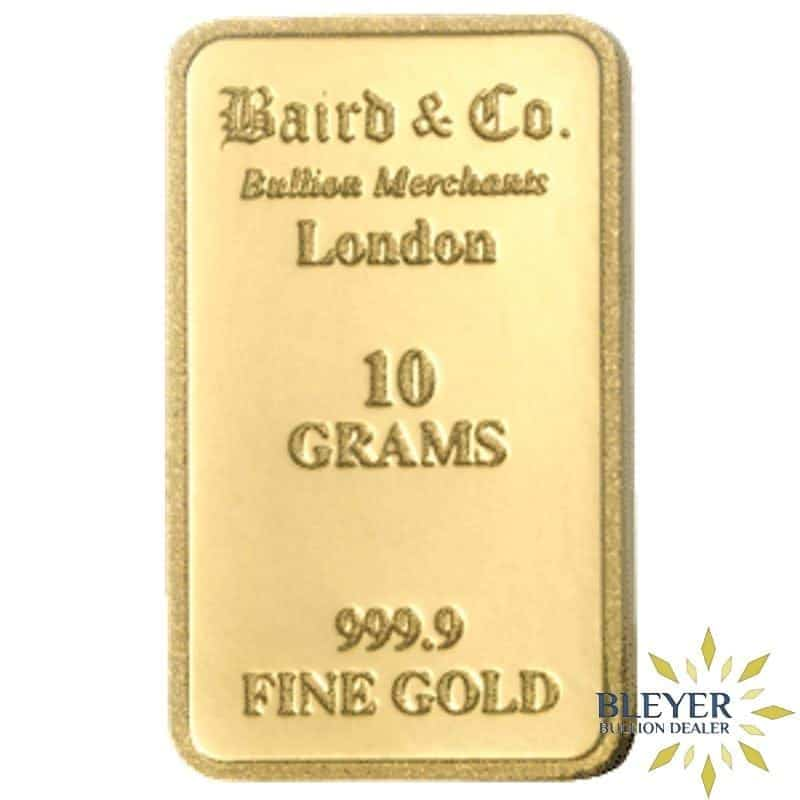10g Baird & Co Minted Gold Bar