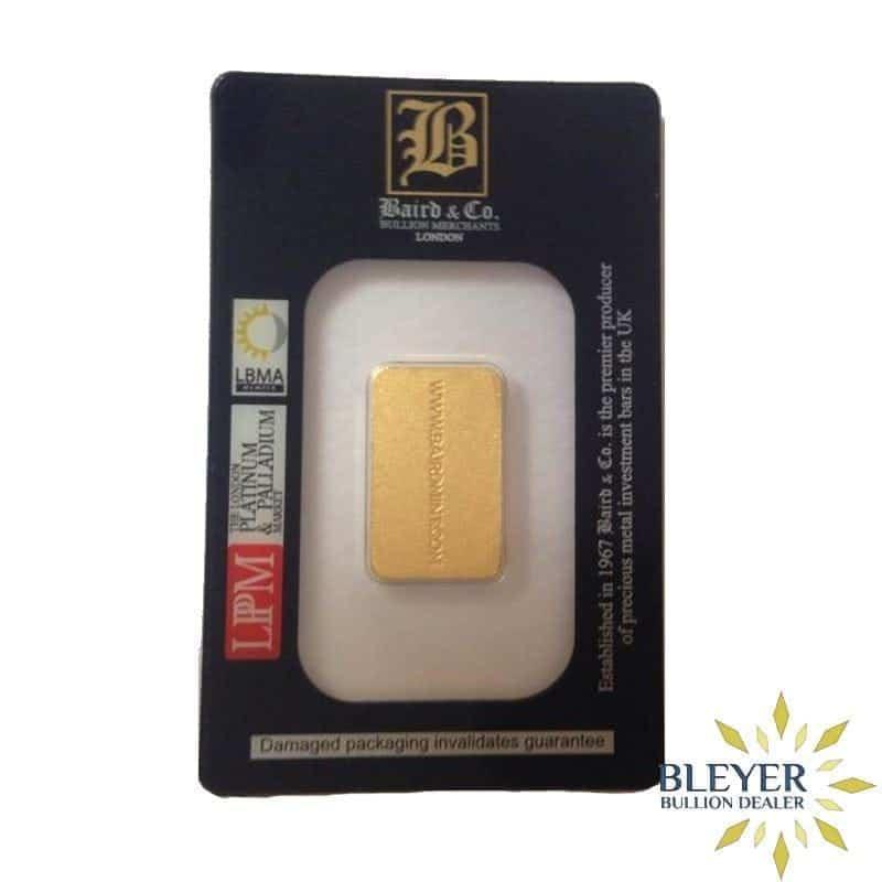 10g Baird & Co Minted Gold Bar