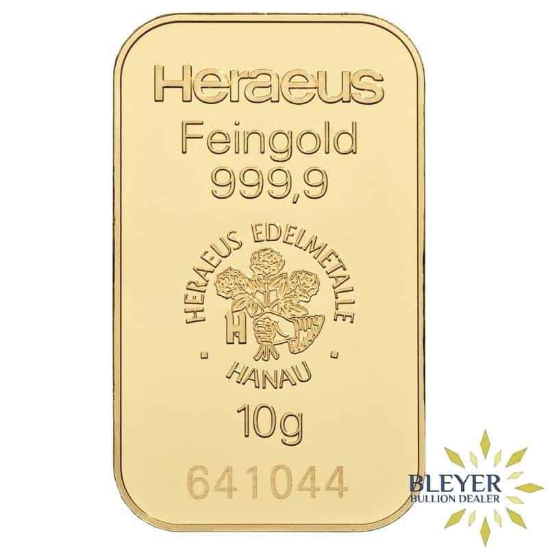 10g Heraeus Minted Gold Bar