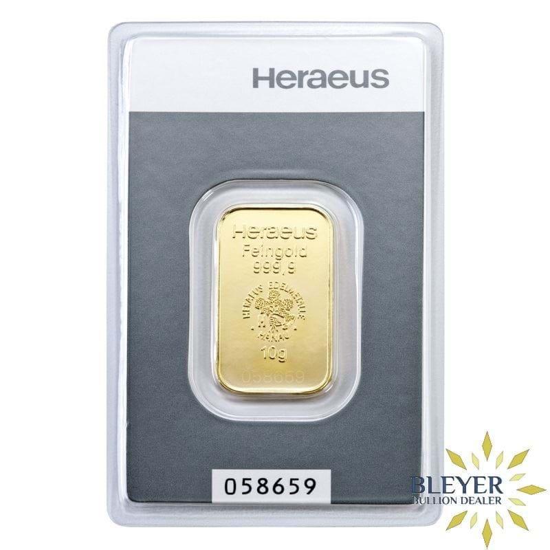 10g Heraeus Minted Gold Bar