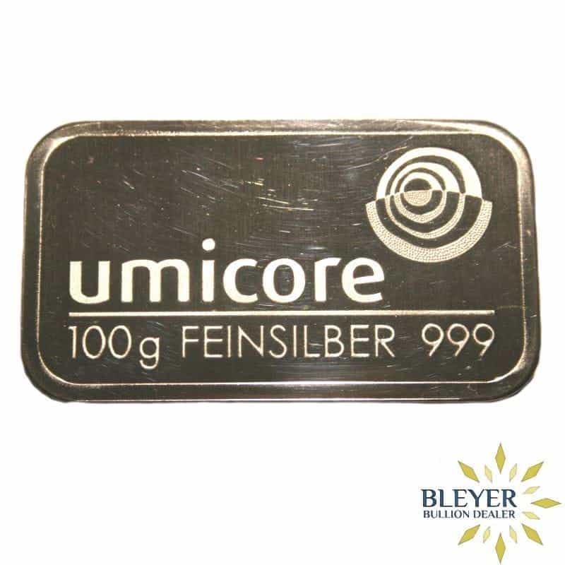 100g Umicore Minted Silver Bar