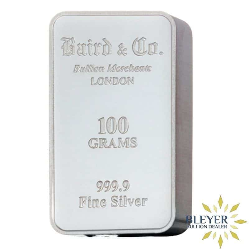 100g Baird & Co Minted Silver Bar