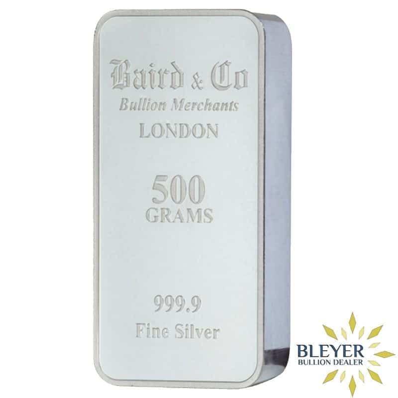 500g Baird & Co Minted Silver Bar