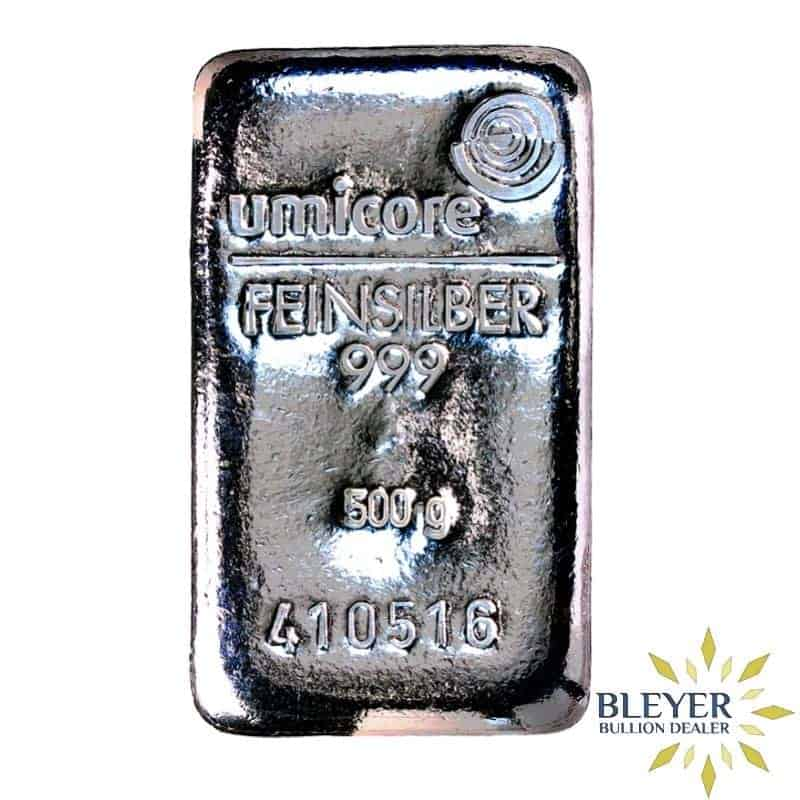 500g Umicore Cast Silver Bar