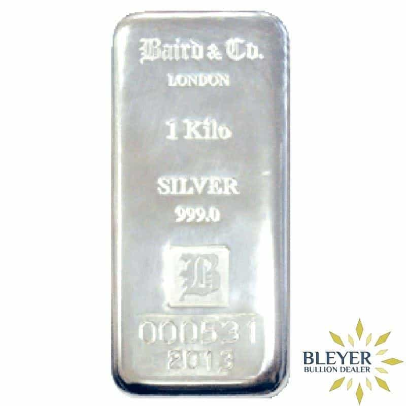 1kg Baird & Co Cast Silver Bar