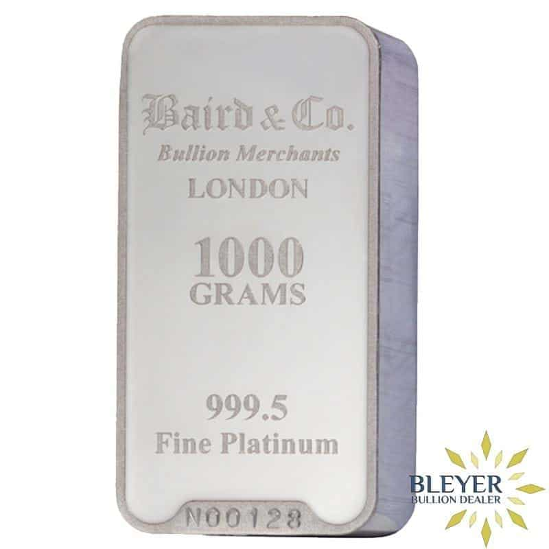 1kg Baird & Co Minted Platinum Bar