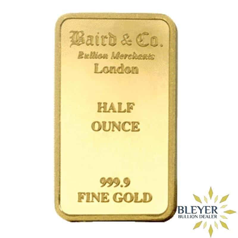 1/2oz Baird & Co Minted Gold Bar