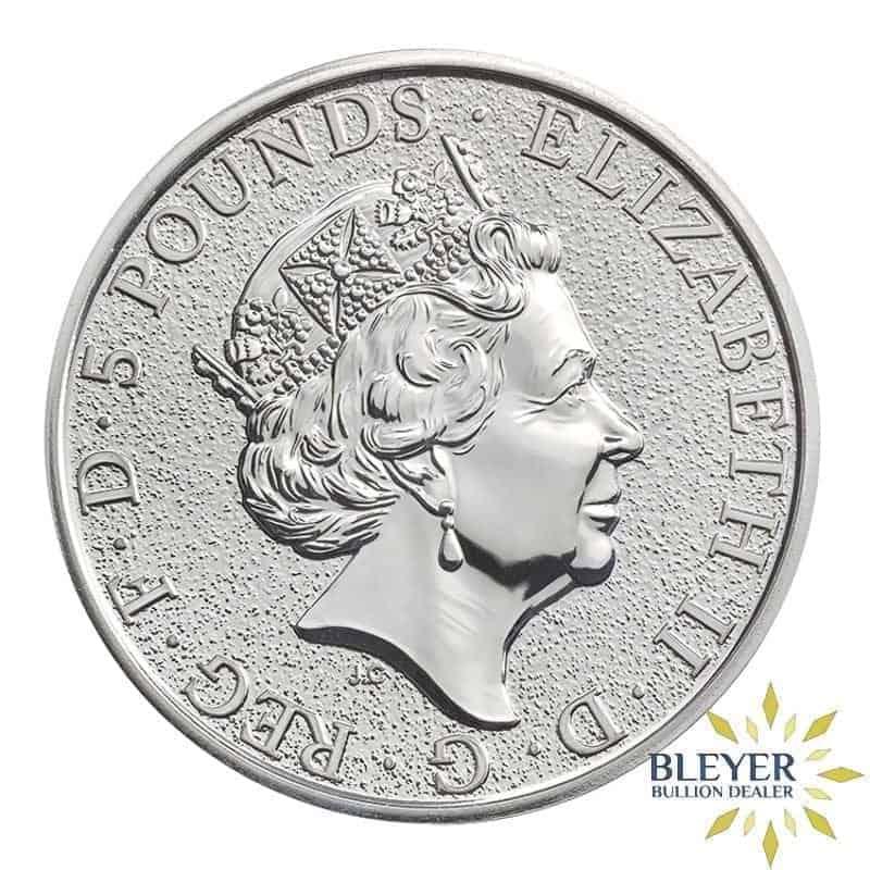 2oz Silver UK Queen's Beasts Lion, 2016
