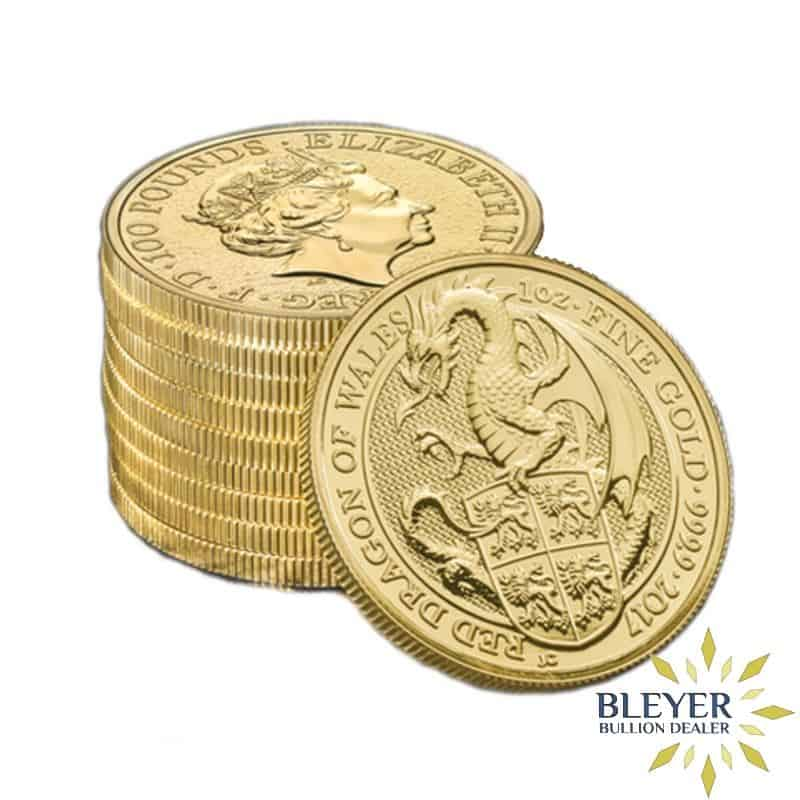1oz Gold UK Queen's Beasts Dragon, 2017