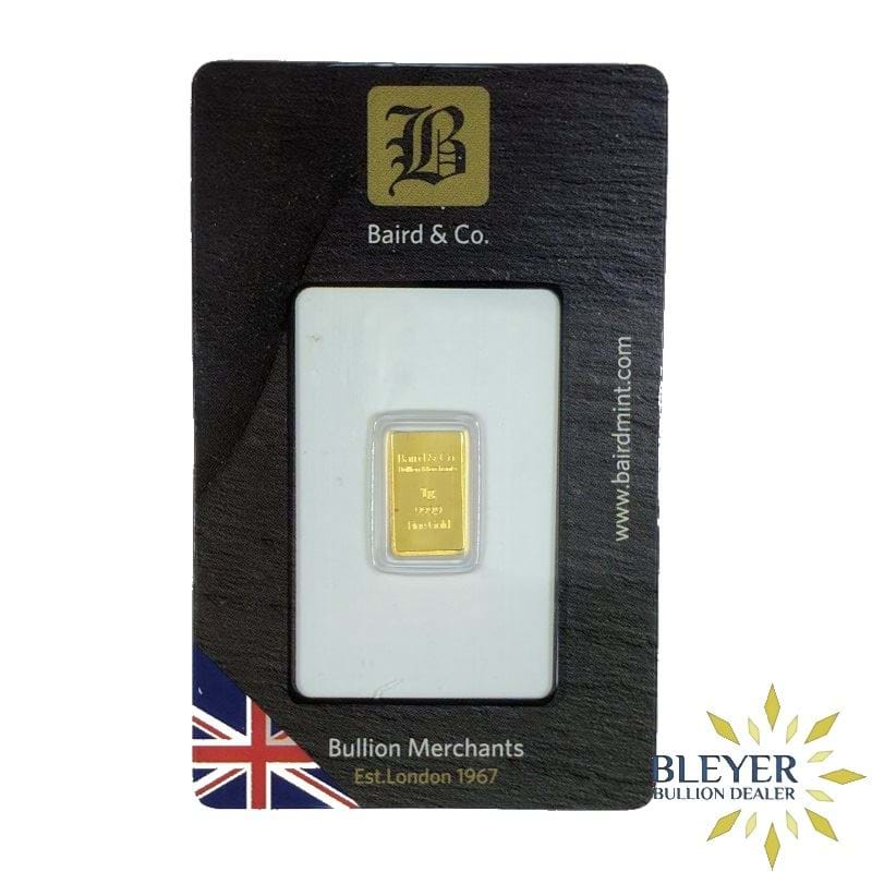 1g Baird & Co Minted Gold Bar