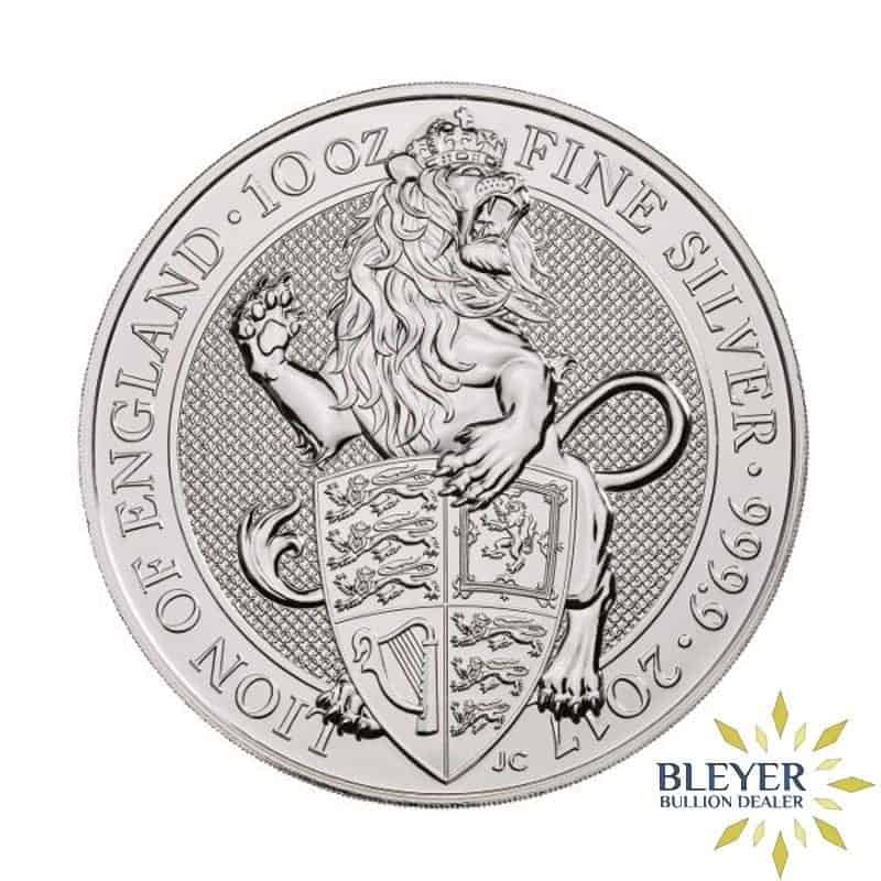10oz Silver UK Queen's Beasts Lion, 2017