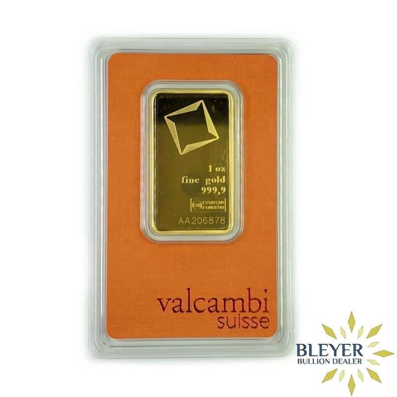 1oz Valcambi Minted Gold Wafer Bar