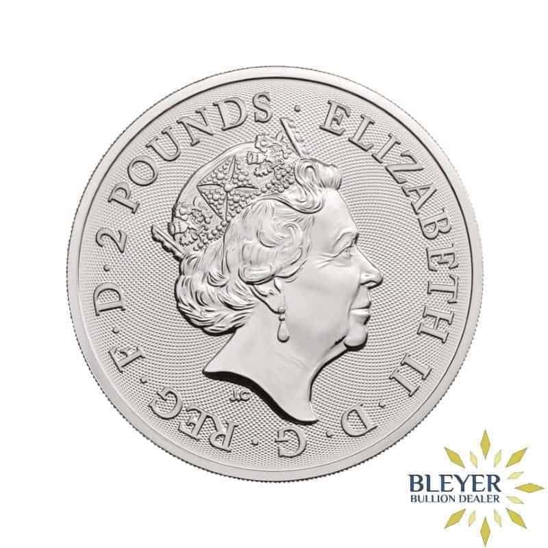 1oz Silver UK Lunar Dog Coin, 2018
