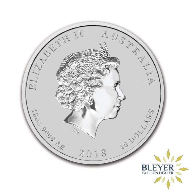 10oz Silver Australian Lunar Dog Coin, 2018