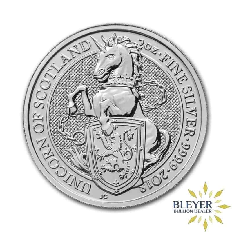 2oz Silver UK Queen's Beasts Unicorn, 2018