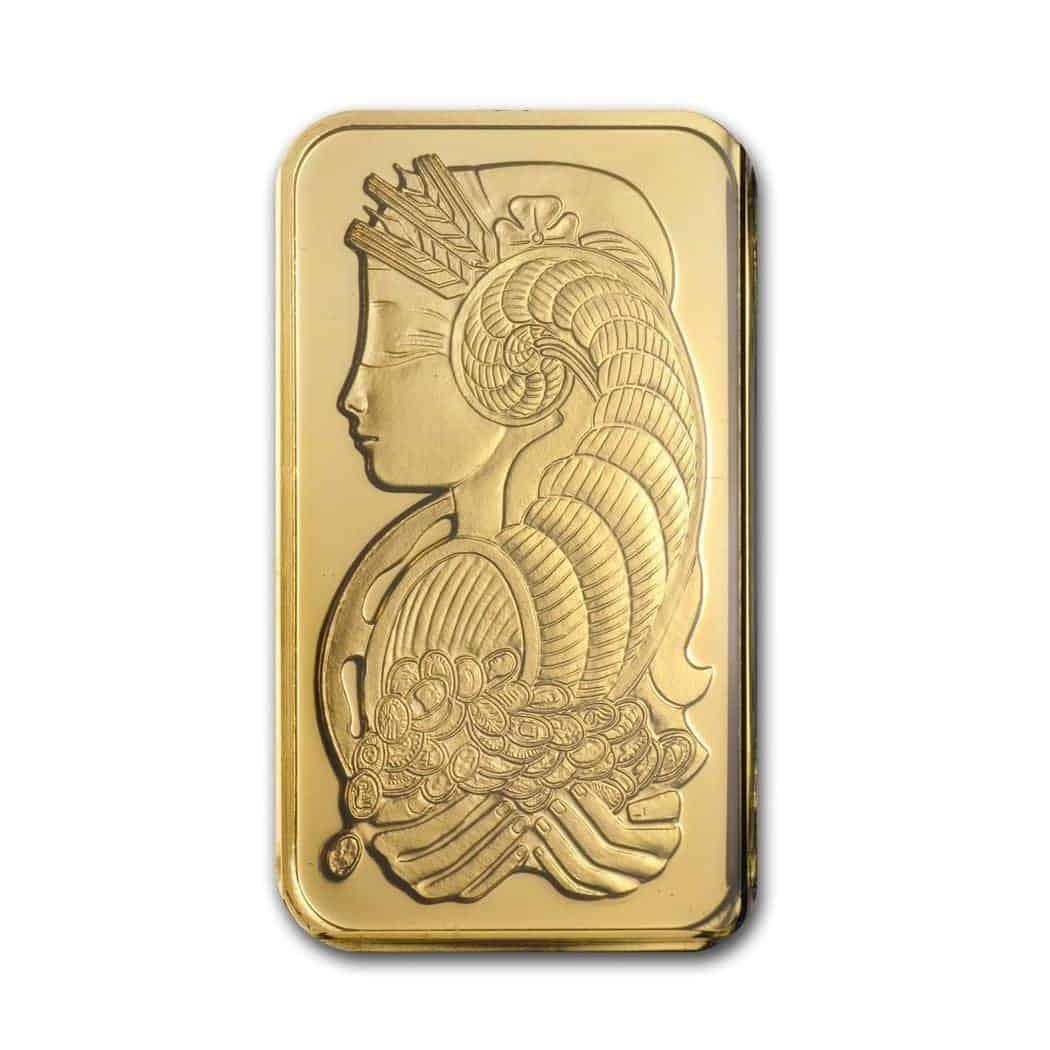 1oz Pamp Minted Gold Bar