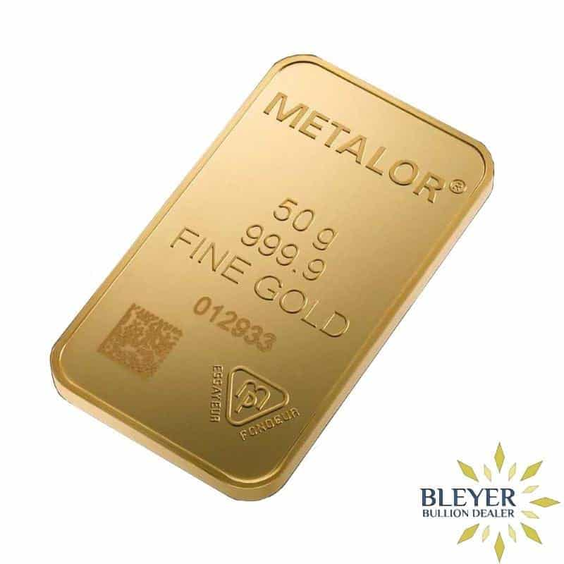 50g Metalor Minted Gold Bar