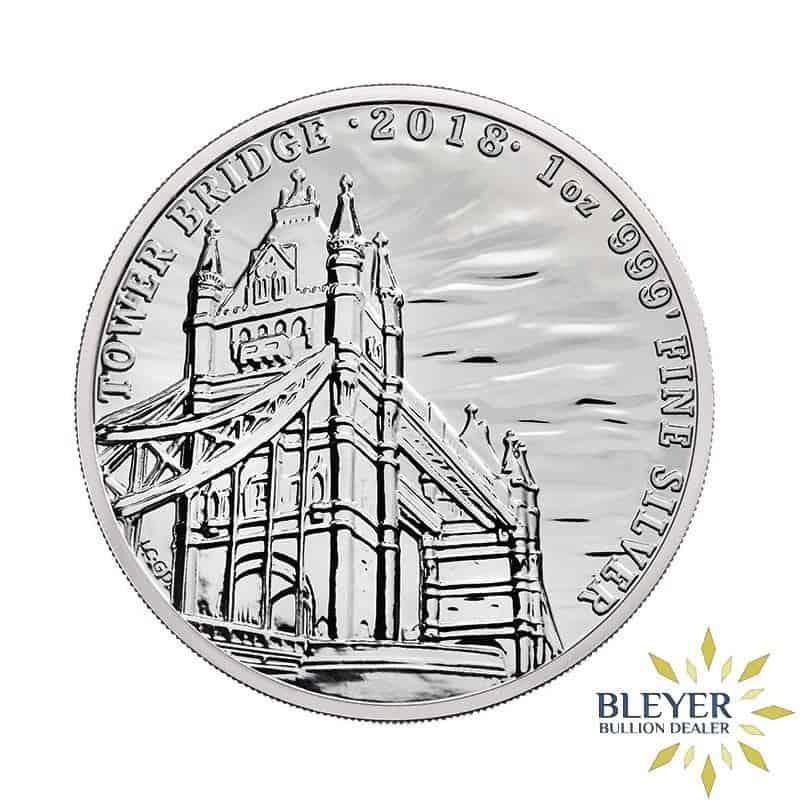 1oz Silver UK Landmarks of Britain - Tower Bridge, 2018