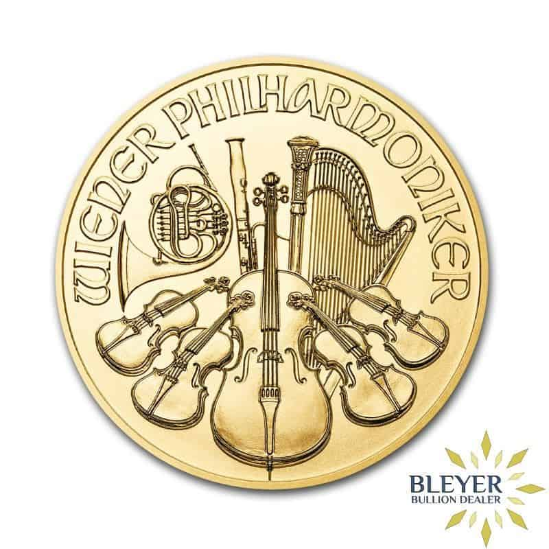 1/10oz Gold Austrian Philharmoniker Coin