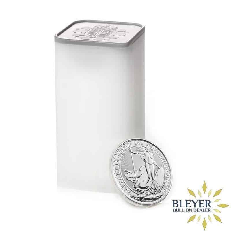 1oz Silver UK Britannia 25 Coin Tube, Current Year