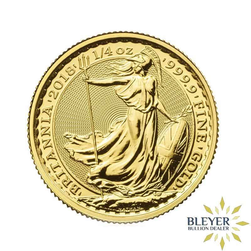 1/4oz Gold UK Britannia Coins, Mixed Years