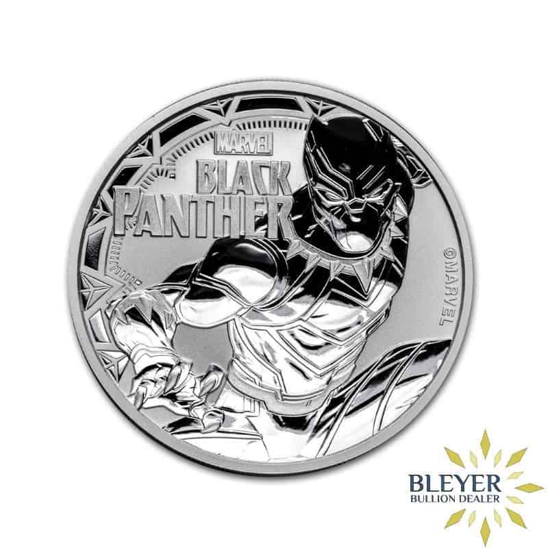 1oz Silver Tuvalu Marvel Black Panther Coin, 2018