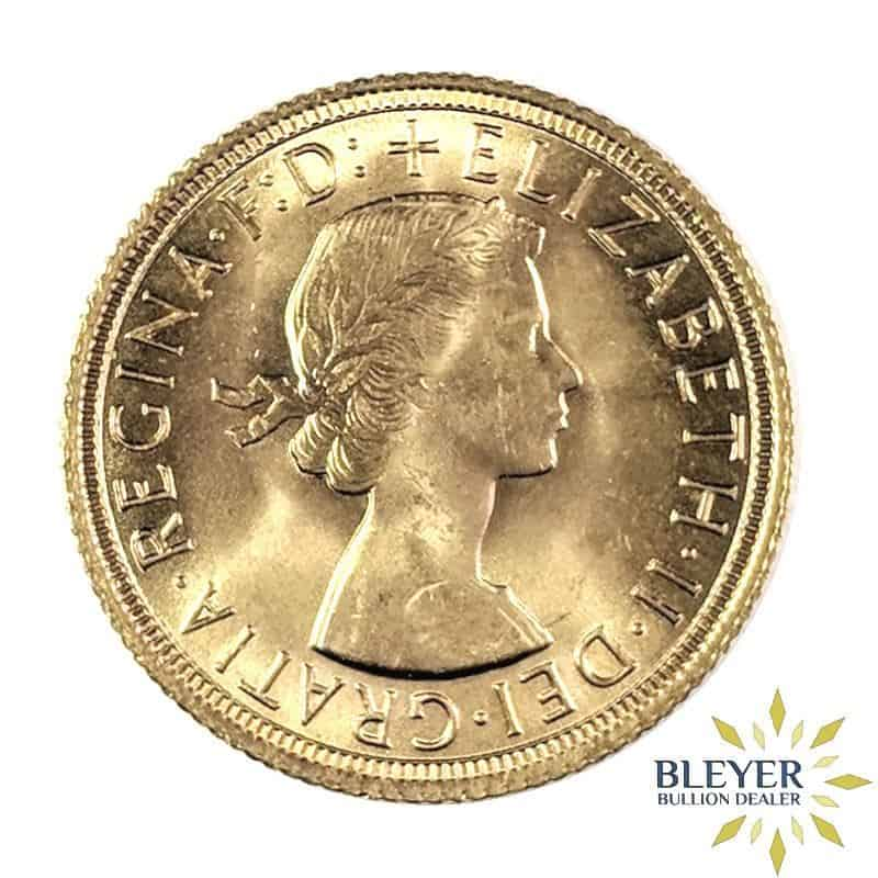 UK Gold Sovereign - Elizabeth II, Young Head