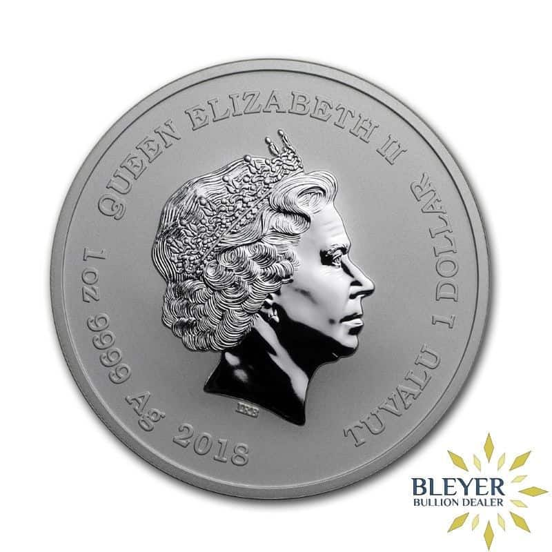 1oz Silver Tuvalu Marvel Iron Man Coin, 2018