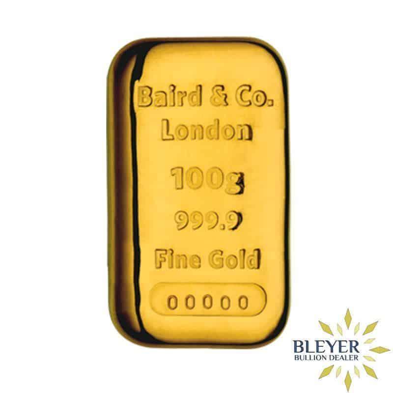 100g Baird & Co Cast Gold Bar