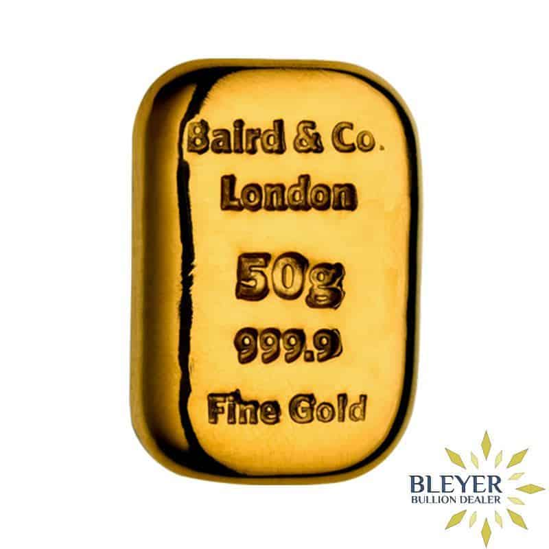 50g Baird & Co Cast Gold Bar